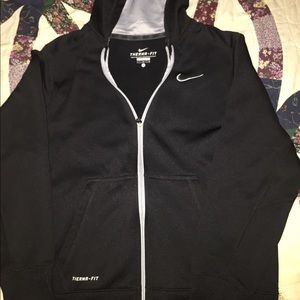 Nike Zip-up Hoodie Black Youth Size Large